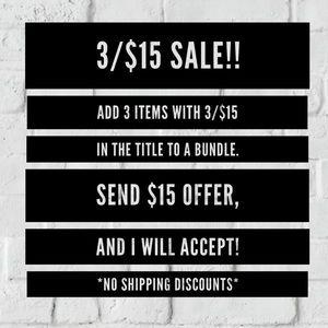 🔸3/$15 SALE!!🔸